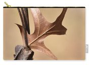 Bronzed Oak Leaf Vertical Carry-all Pouch