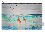 Brooke And Carey In The Shore Break Carry-all Pouch