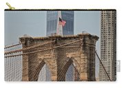 Brooklyn Bridge And One World Trade Center In New York City  Carry-all Pouch