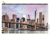 Brooklyn Bridge And Skyline At Sunrise, New York, Usa Carry-all Pouch