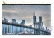 Brooklyn Bridge And The Lower Manhattan Financial District Carry-all Pouch