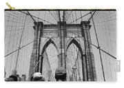 Brooklyn Bridge In Black And White Carry-all Pouch