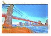 Brooklyn Bridge New York Pop Art Carry-all Pouch