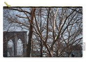 Brooklyn Bridge Thru The Trees Carry-all Pouch