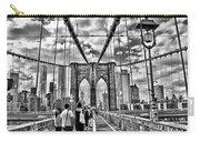 Brooklyn Bridge Walkway   B  And  W Carry-all Pouch