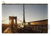 Brooklyn Brige Sunset Carry-all Pouch