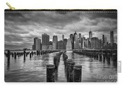 Brooklyn Pilings Bw Carry-all Pouch