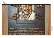 Brooks Robinson Hall Of Fame Plaque Carry-all Pouch