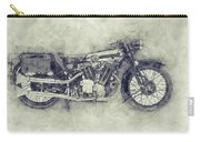 Brough Superior Ss100 - 1924 - Motorcycle Poster 1 - Automotive Art Carry-all Pouch
