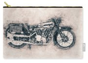 Brough Superior Ss100 - 1924 - Motorcycle Poster - Automotive Art Carry-all Pouch