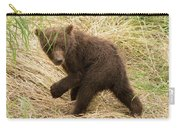 Brown Bear Cub Turns To Look Back Carry-all Pouch