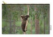 Brown Bear Ursus Arctos Cub Climbing Carry-all Pouch