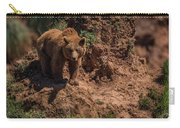 Brown Bear Watches From Steep Rocky Outcrop Carry-all Pouch