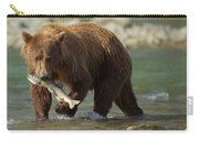Brown Bear With Salmon Carry-all Pouch