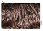 Brown Curly Hair Background Carry-all Pouch