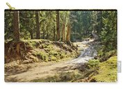 Brown Dirty Road Under Spring Sun Rays Carry-all Pouch