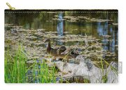 Brown Ducks On Log Carry-all Pouch