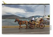 Brown Horse Drawn Carriage Carry-all Pouch