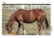 Brown Horse Eat Ranch Scene Carry-all Pouch