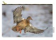 Brown Mallard Landing Carry-all Pouch