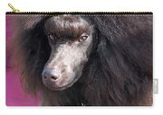 Brown Medium Poodle Carry-all Pouch