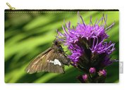 Brown Moth On Pink Carry-all Pouch