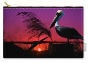 Brown Pelican At Sunset - Painted Carry-all Pouch