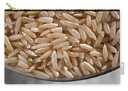 Brown Rice In Bowl Carry-all Pouch by Steve Gadomski