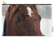 Brown Snow Horse Carry-all Pouch