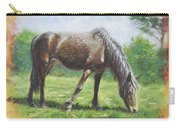 Brown Standing Horse Eating Carry-all Pouch by Martin Davey
