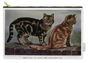 Brown Tabby And Orange Tabby Carry-all Pouch