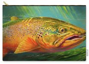 Brown Trout Portrait  Carry-all Pouch