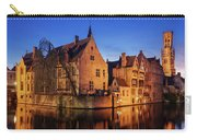 Bruges Architecture At Blue Hour Carry-all Pouch by Barry O Carroll