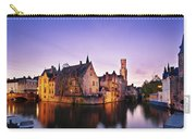 Bruges At Dusk Carry-all Pouch by Barry O Carroll