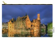 Bruges At Night, Belgium Carry-all Pouch