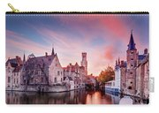 Bruges Sunset Carry-all Pouch by Barry O Carroll