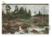 Bruno Liljefors,   Landscape From Uppland. 2 Carry-all Pouch