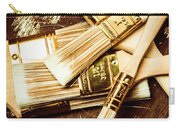 Brushes Of Interior Decoration Carry-all Pouch