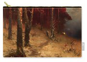Brushwood Collector Bordering The Woods Carry-all Pouch