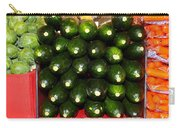 Brussel Sprouts , Cucumbers And Carrots Carry-all Pouch