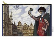 Brussels Commercial Fair Poster - Retro Poster - Vintage Travel Advertising Poster Carry-all Pouch