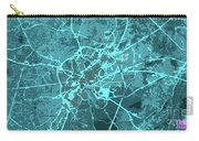 Brussels Traffic Abstract Blue Map And Cyan Carry-all Pouch