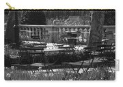 Bryant Park In Black And White Carry-all Pouch