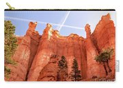 Bryce Canyon Hoodoos With Contrails Carry-all Pouch