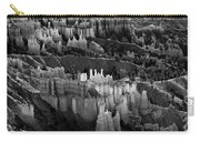 Bryce Canyon In Black And White Carry-all Pouch