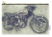 Bsa Gold Star 1 - 1938 - Motorcycle Poster - Automotive Art Carry-all Pouch