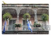 Bubbles Blow From An Ornate Balcony In New Orleans At Mardi Gras Carry-all Pouch