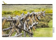 Buck And Rail Fence In The High Country Carry-all Pouch