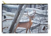 Buck In The Snow Carry-all Pouch