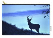 Buck Silhouette In Blue Carry-all Pouch